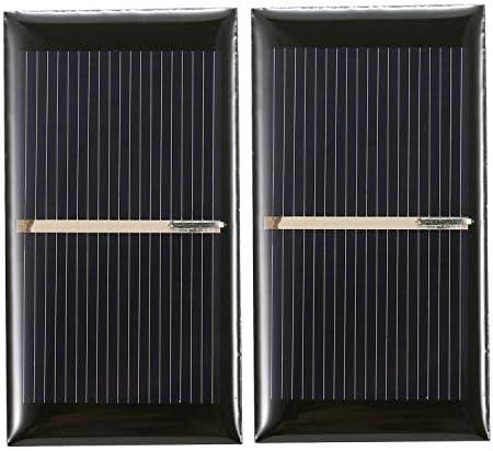 Godyluck- 2 STÜCKE 0,28 W 2 V Mini-Solarpanel Polykristallines Silizium Kleine Solarzelle DIY Wasserdichtes Camping Tragbares Power-Solarpanel Kompatibel für Spielzeug-Lampenlüfterpumpe
