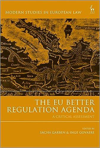 Amazon.com: The EU Better Regulation Agenda: A Critical ...