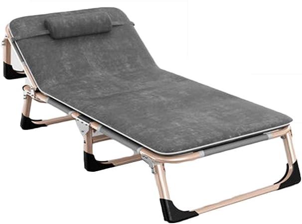 Bases para camas Cama Plegable Descanso Para El Almuerzo En La Oficina Cama Plegable Cama Individual Plegable Sillón Reclinable Para Jardín Cama De Camping Portátil Al Aire Libre Cama De Acompañamient: Amazon.es: