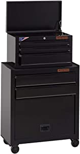 beyond by BLACK+DECKER Tool Chest / Tool Cabinet, 26-Inch, Steel, 5-Drawers, Ball-Bearing (BDST98376BKAEV)