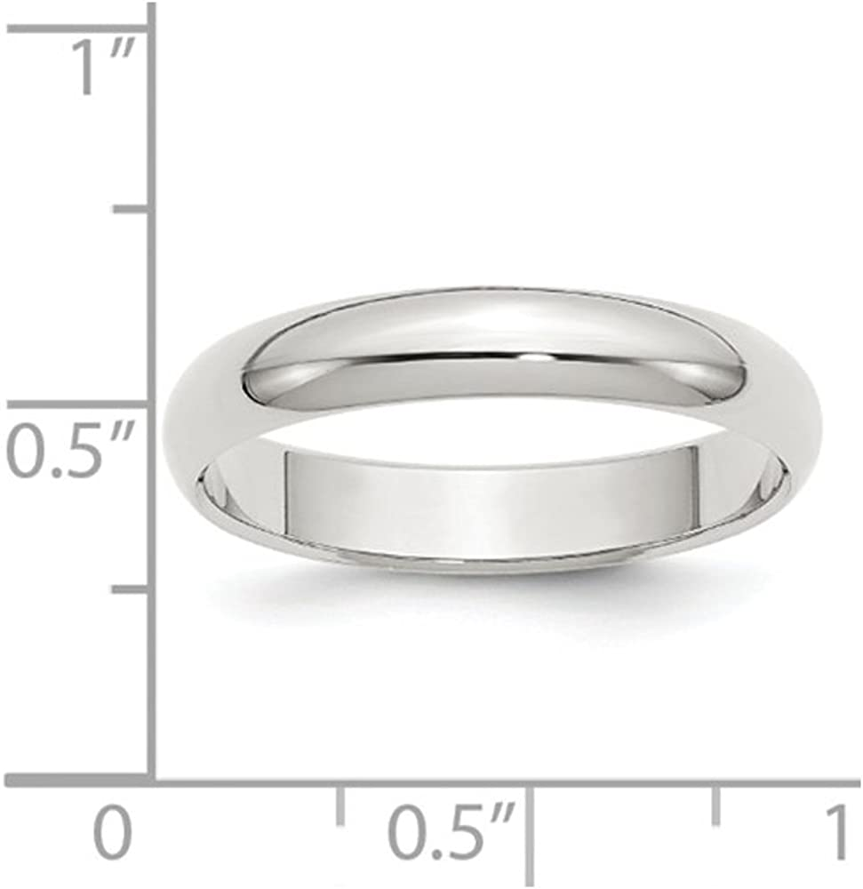 Mens 4mm Wedding Band in Sterling Silver