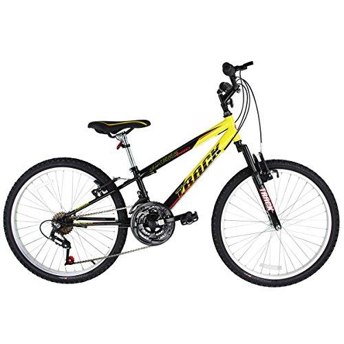 Bicicleta Track Bikes Axess Aro 24-18V Preto/Amarelo