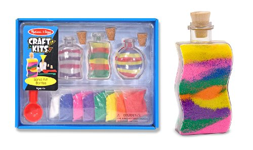 Melissa & Doug Sand Art Bottles Craft Kit: 3 Bottles, 6 Bags of Colored Sand, Design Tool