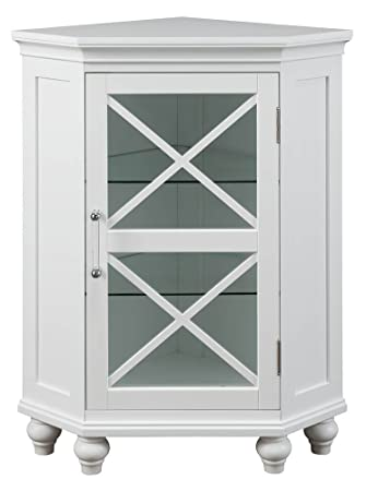 Amazon.com: Blue Ridge Corner Floor Cabinet in White: Home & Kitchen