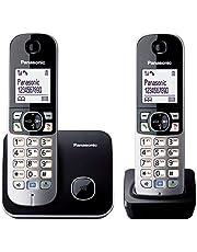 Panasonic Kx-Tg6812Gb DECT Draadloze Telefoon, 4,6 Cm/1,8 Inch, Grafische Display, Zwart