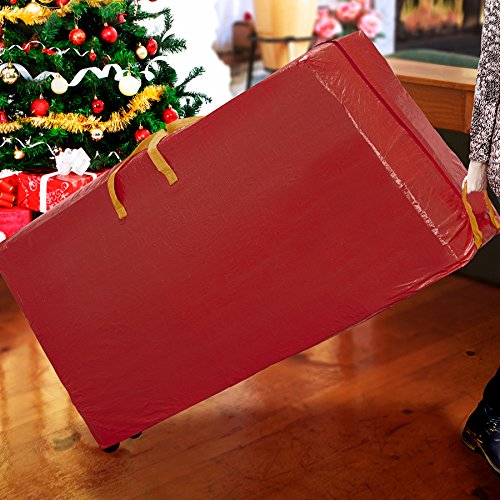 simplify-7ft-christmas-tree-storage-bag-with-wheeled-base-holiday-red-stronger-support