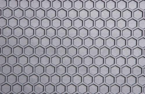 Intro-Tech Hexomat Cargo Area Custom Floor Mat for Select Jaguar XJ-8 Models - Rubber-like Compound (Gray) by Intro-Tech Automotive by Intro-Tech Automotive