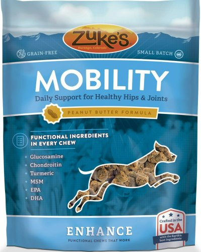 Zuke's Enhance Chews Mobility Dog Supplements Peanut Butter 3.75lb (12 x 5oz)