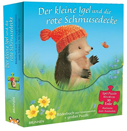 Der kleine Igel und die rote Schmusedecke: Bilderbuch und doppelseitiges Puzzle