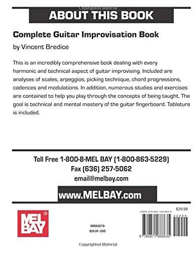 Complete Guitar Improvisation Book Vincent Bredice 0796279001007