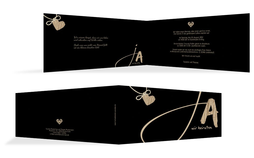 Hochzeitskarten  Einladung natürlich Ja Ja Ja 2, hochwertige Einladung zur Heirat inklusive Umschläge   30 Karten (format  148.00x105.00mm) Farbe  Braun B074Z5B7JN   Diversified In Packaging    Sale Düsseldorf    Düsseldorf Eröffnung  594822