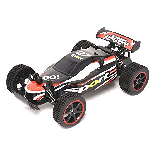 DICPOLIA 1:20 2.4GHZ 2WD Radio Remote Control Off Road RC RTR Racing Car Truck,Car Toys for Kids Toddlers Baby Boys Girls Adults Seat Model Toys Steering Wheel Car Toy Track (Red) by DICPOLIA (Image #2)