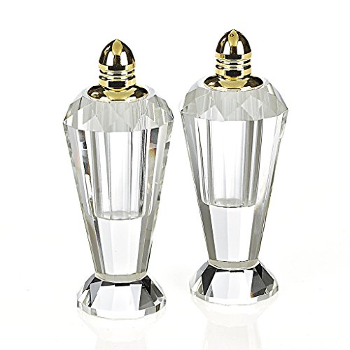 (Badash H192G Preston Gold Color 2 Piece Salt and Pepper Shakers)