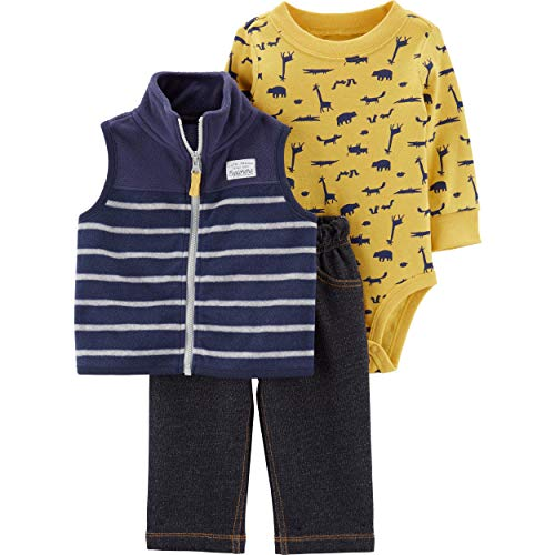Carter's 3-Piece Animal Little Vest Set