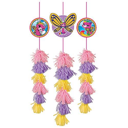 amscan Rainbow Butterfly Unicorn Kitty Danglers