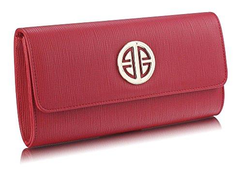 Ladies Look Handbag New Chain 1 Large Shoulder Designer Womens Design Red Flap Bags Long Purse With Detachable Clutch PzPrqgR