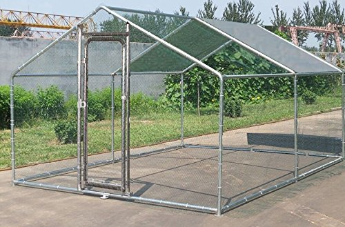 ChickenCoopOutlet-Large-Metal-10x10-ft-Chicken-Coop-Backyard-Hen-House-Cage-Run-Outdoor-Cage
