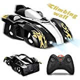 FUNTOK Remote Control Car, Stunt Car Dual Mode 360°Rotating Stunt Wall Climbing Car with Remote Control Head and Rear LED Lights Intelligent Glowing USB Cable Gift for Girls and Boys