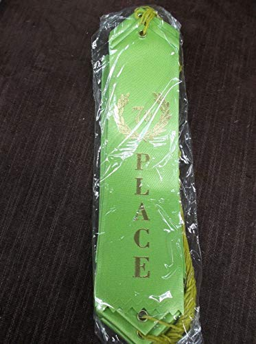 7th Seventh Place Light Green Pinewood Derby Award Ribbons lot of 25