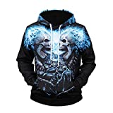 Jhualeek Men 3D Graphic Print Pullover Hoodie Sweatshirt with Front Pocket Pullover