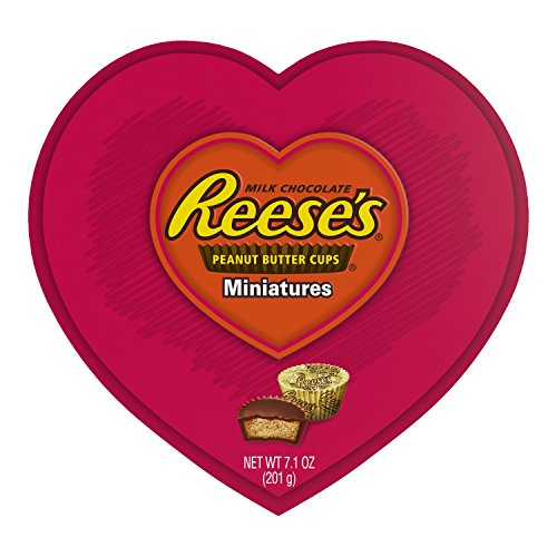Hershey's Reese's Peanut Butter Cups Miniatures Valentines Day Special Heart Shaped Gift 7.1 OZ (Heart Miniature)