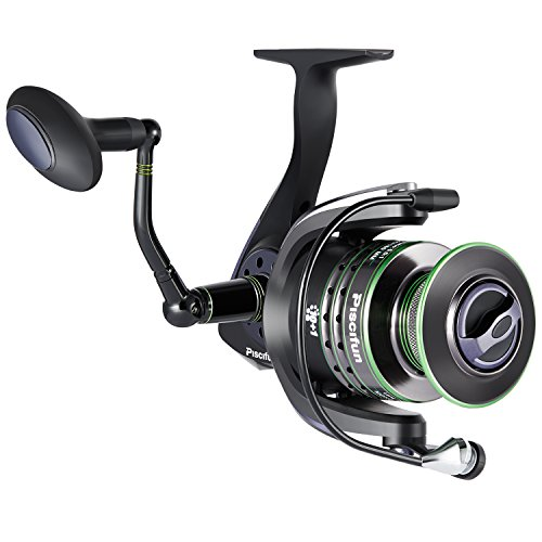 - Piscifun Spinning Reel Lightweight Smooth Fishing Reel 5000 Series 5.5:1 10+1BB 26.5LB Carbon Fiber Drag Spin Reels