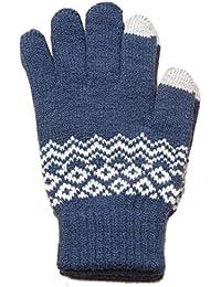 Touch Screen Gloves Women Girl Stretch Knit Mittens Winter Warm Gloves