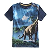 Frogwill Toddler Boys Summer Dinosaur Short Sleeve 3D T-Shirt 7/8Y