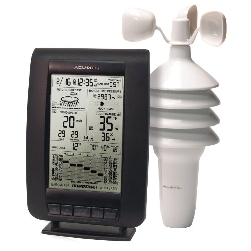 AcuRite 00634A3 Wireless Weather Station with Wind Sensor Black