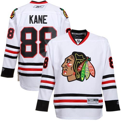 NHL Reebok Chicago Blackhawks #88 Patrick Kane White Premier Hockey Jersey (X-Large)
