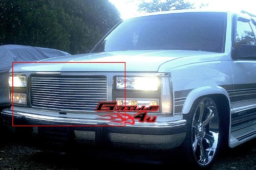 (APS G85010A Polished Aluminum Billet Grille Replacement for select GMC C1500 Models )