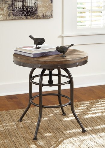 Ashley Furniture Signature Design - Vennilux End Table - Vintage Casual - Round - Grayish Brown by Signature Design by Ashley