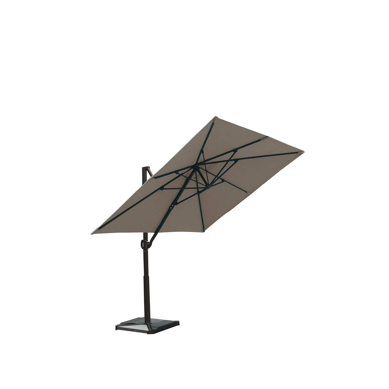 Abba Patio 8 x 10 Feet Rectangular Cantilever Umbrella with Cross Base, Sand