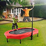 Best Mini Trampolines - ANCHEER Mini Rebounder Trampoline with Adjustable Handle Review