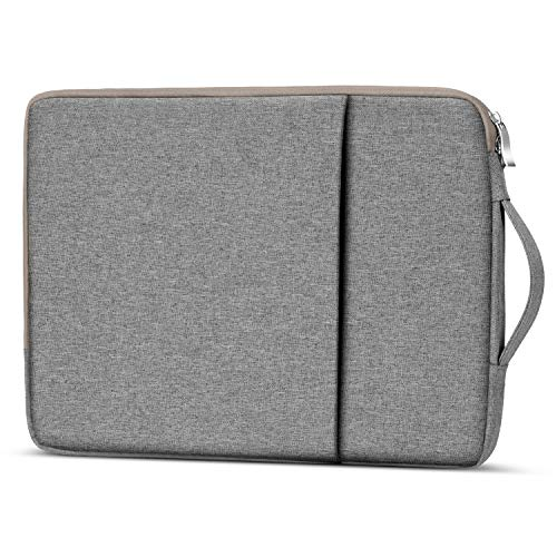 Losong Protective Laptop Sleeve Briefcase Handbag Compatible 15 Inch New MacBook Pro Touch Bar A1707/Macbook pro 15 Retina & Most 14 Inch Notebook, Water Resistant Chromebook Carrying Case Bag, Grey