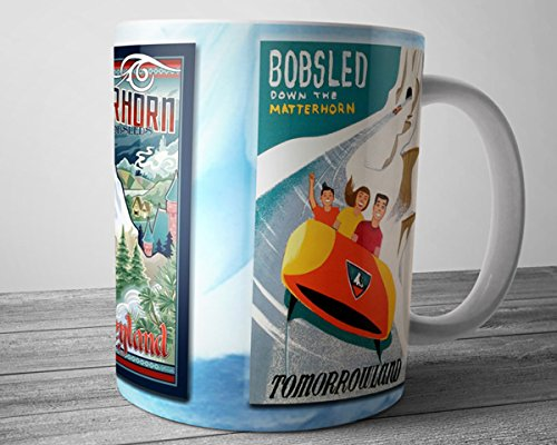 Disney Poster Mug Matterhorn Ceramic Coffee Cup 11 oz.