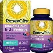 Renew Life Kids Probiotics 3 Billion CFU Guaranteed, 6 Strains, Shelf Stable, Gluten Dairy & Soy Free, 30