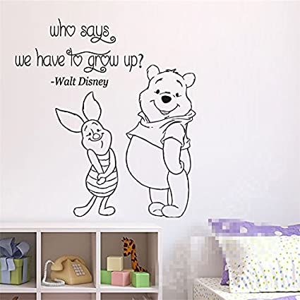 Amazon Wall Sticker Home Art Quotes Winnie The Pooh Wall Decal Impressive Cartoon Home Quotes