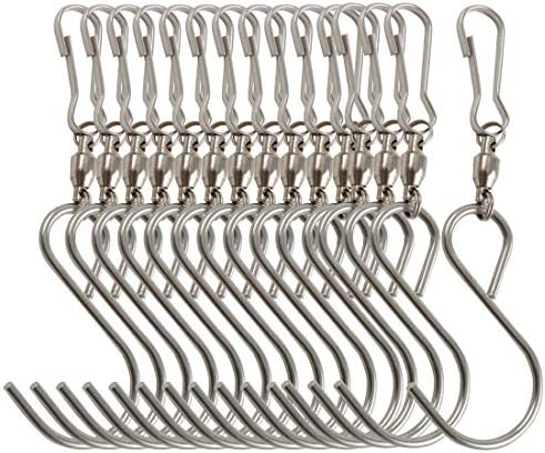 uxcell Metal S Hooks 4.53 S Shaped Hook Hangers for Kitchen Bathroom Bedroom Storage Room Office Outdoor Multiple Uses 25pcs
