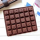 SDFC Silicone Alphabet Letters Chocolate Cake Cookie Cube Mould Mold Baking Tool