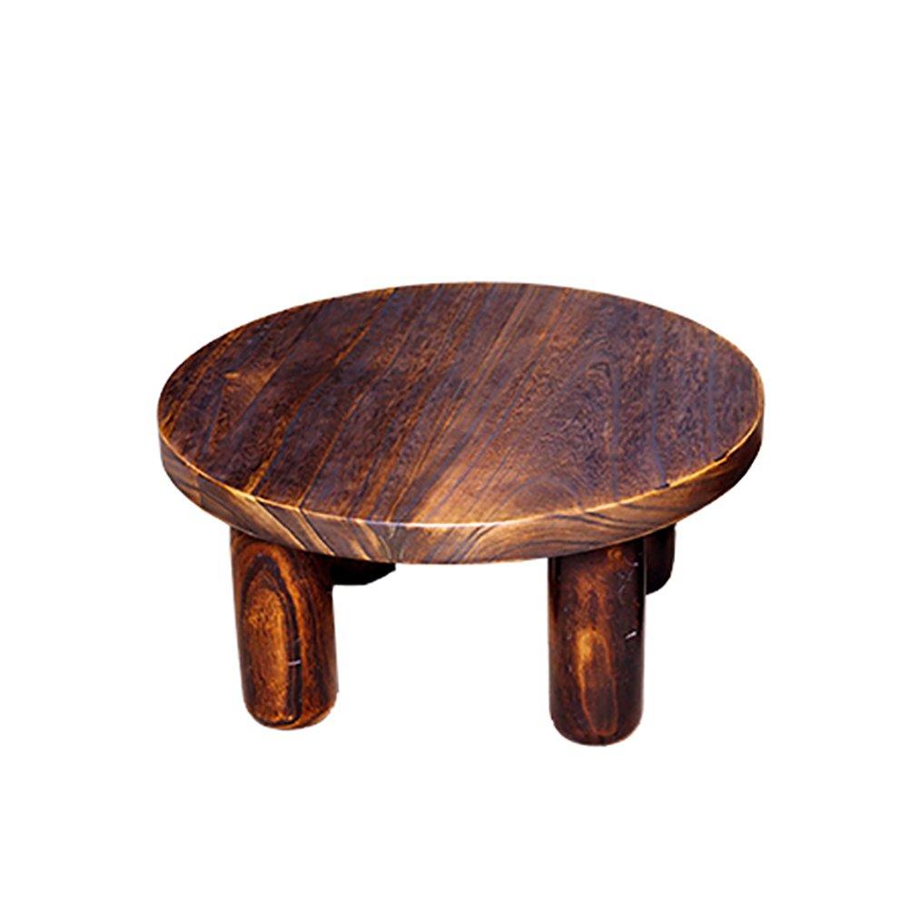 折り畳みテーブル& ソリッドウッド小型ラウンドテーブルレトロカラーコーヒーテーブルローデスクアセンブリ直径(40cm、50cm、60cmオプション) (サイズ さいず : 40 cm 40 cm) B07DWKV813 40 cm 40 cm 40 cm 40 cm