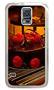Samsung Galaxy S5 Delicious Chocolate Strawberry Cake PC Custom Samsung Galaxy S5 Case Cover Transparent
