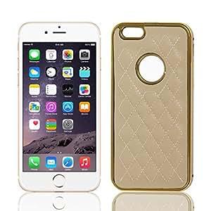 Marco metálico del Rhombus de Shell duro de la cubierta del caso para el iPhone de color caqui 6