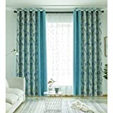 Splicing Cotton Linen Curtains Finished Simple Modern Bedroom Living Room Study Bay Window Floor Window Sand (Size : 2.5 * 2.7m)