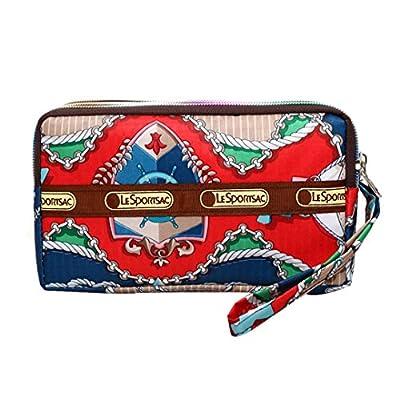 Women's Nylon Wristlet Clutch Bag 3-Layers Long Wallet Purse With Wrist Strap
