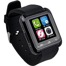 Tiean U80 Smart Bluetooth Wrist Watch Pedometer Healthy for Smartphone (Black)