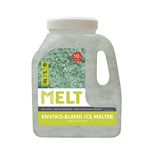 MELT 10 Lb Jug Premium Environmentally-Friendly Blend Ice Melter w/ CMA (Ice Jug)