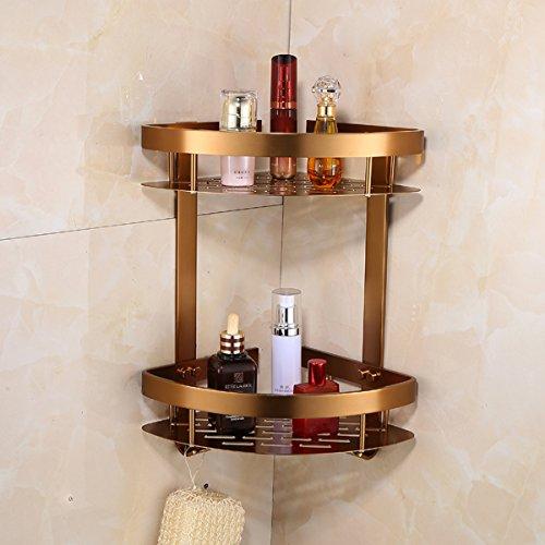 Hlluya toallero Antiguo Kit de Aluminio Espacio Rack de Toallas de baño baño Racks de Esmalte Azul Adornos Antiguos, el trípode en el Segundo Piso.