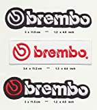 BREMBO Lot of 3 Iron Sew On Cotton Patches Automotive cars Motorcycles Disk Brakes by RSPS Embroidery n Decals