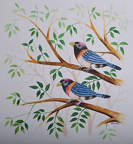 Birds Painting 35 Poster Color Painting By Santosh Patil Santosh